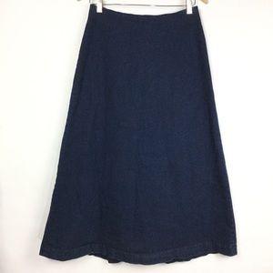 Gap Factory Modest A-Line Denim Jean Skirt Size 6